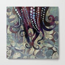 Metallic Ocean II Metal Print