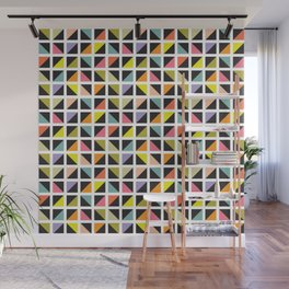Geometric Pattern 241 (multicolored triangle boxes) Wall Mural