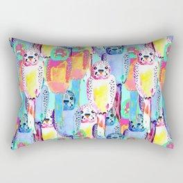 Busy budgies Rectangular Pillow