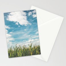 Green Field Blue Sky Stationery Cards