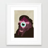 doom Framed Art Prints featuring DOOM by Jamie Bryan