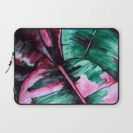 Aquarell Plant Stromanthe Sanguinea Laptop Sleeve