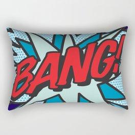 BANG Comic Book Pop Art Cool Fun Graphic Rectangular Pillow
