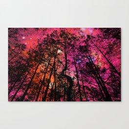 Pink Orange Magenta Twisted Tree Forest Canvas Print