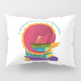 A Dragon Protects His Treasures (books) Pillow Sham