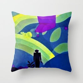 African American Masterpiece 'The Creation' by Aaron Douglas Throw Pillow