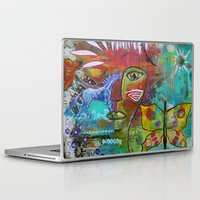 medicine Laptop & iPad Skins featuring Medicine Warrior by Pixie Campbell