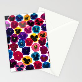 Plentiful pansies Stationery Cards
