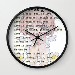 The Little Angel - Love Message Wall Clock
