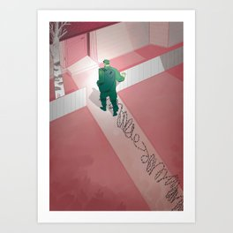 Back home: post traumatic stress Art Print