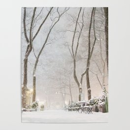 New York City Snow Poster