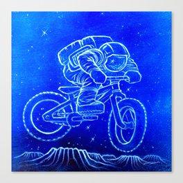 Astronaut Bicycle 2 Canvas Print