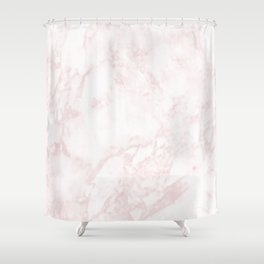 A Blush Pink Elegant Marble Shower Curtain