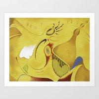Nubain queen  Art Print