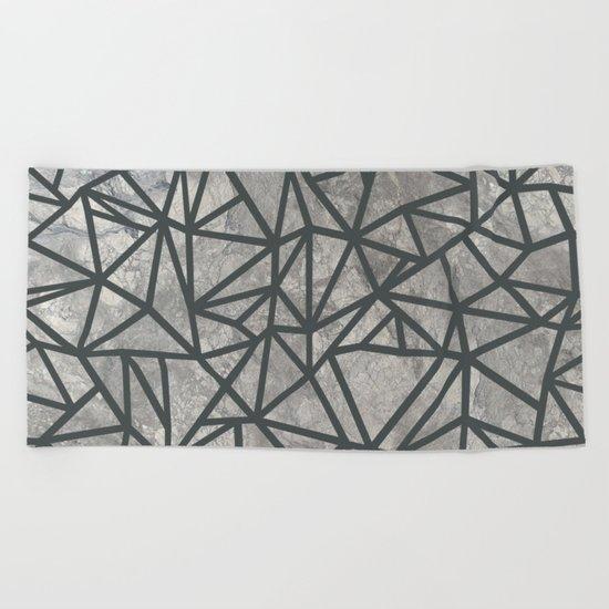 Ab Marb Grey 2 Beach Towel