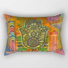 Boho & Batik Hamsa Rectangular Pillow
