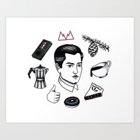 dale cooper Art Prints featuring dale cooper collage by Bunny Miele