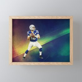 Colts quarterback Andrew Luck Framed Mini Art Print