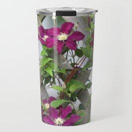 Lilac Clematis Climbing Trellis Travel Mug