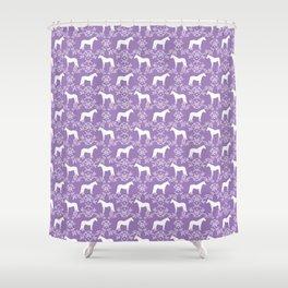 Horse Silhouette floral farm sanctuary animal nursery pet gifts horses Shower Curtain