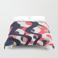 coral Duvet Covers featuring Coral by Raluca Ag