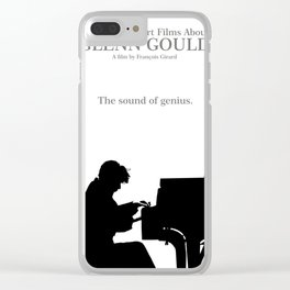 Glenn Gould, Thirty two short films about Glenn Gould,  François Girard, music poster, piano design Clear iPhone Case
