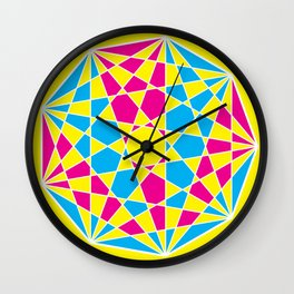 Broken Nonagon 2 Wall Clock