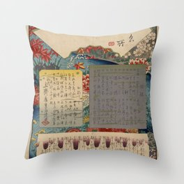 Table of Contents by Ando Hiroshige Throw Pillow