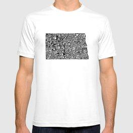 Typographic North Dakota T-shirt