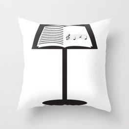 Nice Music Tee For Musicians Opera T-shirt Design Heart Notes Opera Musical Choir Clef Stand Throw Pillow