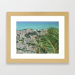 The City Below  Framed Art Print