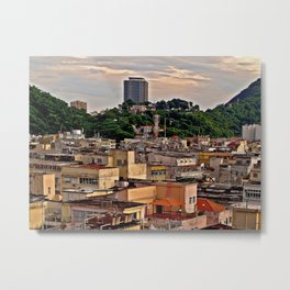 Aerial view of a low income community Metal Print