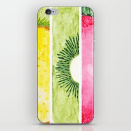 Summer Fruits Watercolor Abstraction iPhone Skin
