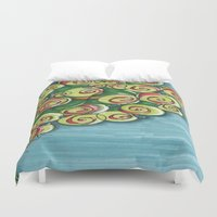 plant Duvet Covers featuring plant by Onde di Tela by Antonella Franco