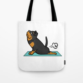 Rottweiler Yoga Pose Tote Bag