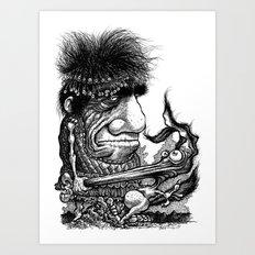 Nose Nabber Art Print