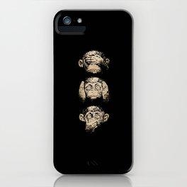 3 wise monkeys iPhone Case