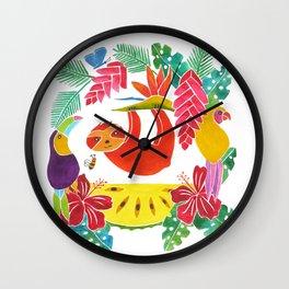 Sloth with anona Wall Clock