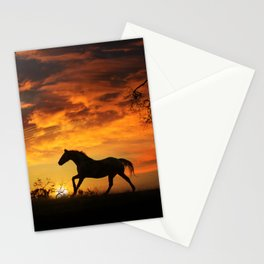 Southwestern Horse Sunset Stationery Cards