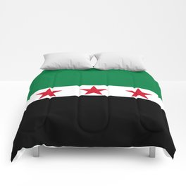 Syrian Independence Flag  High quality Comforters
