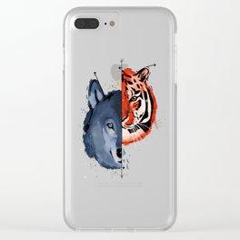 Spirit Animals Clear iPhone Case