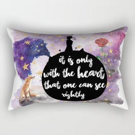 Little Prince With the Heart Rectangular Pillow