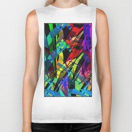 Color splinter in the abstract. Biker Tank