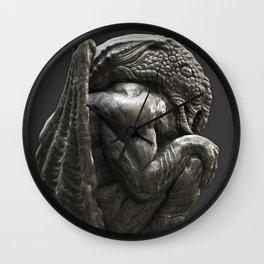 Cthulhu Statuette I Wall Clock