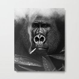 Relaxed Gorilla Metal Print
