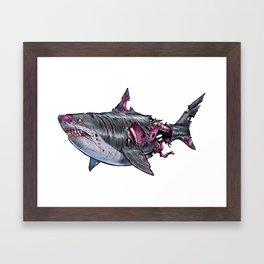 ZomBshark 10 Framed Art Print