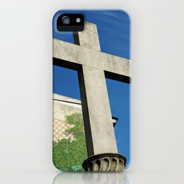 Cross in Madrid Spain iPhone Case