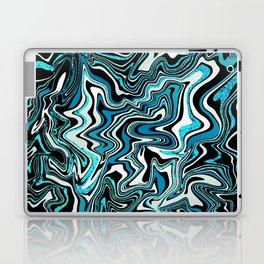 Blue Glitter Agate Slice Laptop & iPad Skin