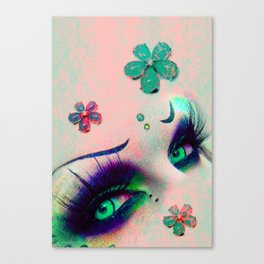 Thoughtful Girl Eyes Canvas Print