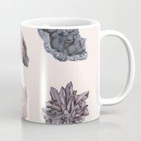 crystals Mugs featuring Crystals by Samantha Crepeau